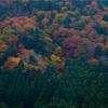 京都・花脊 - 大堰川を彩る山々の秋景色