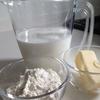 レシピ*黄金比率1:1:10で作る簡単ホワイトソース&シンプルなポテトグラタン