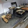 幸運な病のレシピ( 308 )夜:餃子餡メンチカツ、豚肩ブロックトンカツ、ハタハタ・ワカサギ・砂肝唐揚げ、汁