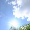 マブシイ太陽 キレイな空です!