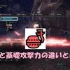 【MHWI】攻撃力と基礎攻撃力の違いって…?意外と知らないモンハンの攻撃力表示の世界!