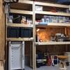 ガレージDIY ガレージ棚&机を作る 改修編 収納スペースの完成