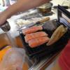幸運な病のレシピ( 2163 )朝 :鮭、カレイ、塩サバ、味噌汁(インゲン、さやえんどう、白菜、薄揚げ)、マユのご飯