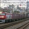 1月19日撮影 東海道線 平塚~大磯間 貨物列車2本撮影 EF66-100前期型の1097ㇾとEH500 金太郎の2079ㇾ