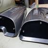 マグナV-MAXテイストカスタム#8 エアインテーク吸入口フタの作成とエンブレム装着