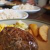 ●与野「カフェレストランBAOBAB(バオバブ)」の手ごねハンバーグ