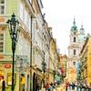 【チェコ】絶景‼︎ プラハ城からカレル橋へ行くまでの美しい街並み