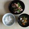 34冊目『31日分の定食カレンダー』から3回めは豚肉とピーマンの五香粉炒め定食