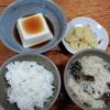 素麺の味噌汁と湯豆腐