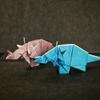 おりがみ:スティラコサウルス(Origami : Styracosaurus)