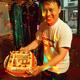 タジキスタンからお帰りなさい!帰国歓迎会で写真ケーキのサプライズ!
