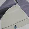 【名古屋帯】紫系の福々しい猫の帯