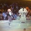 豪栄道の優勝を予感したのは、優勝の前日、横綱日馬富士との「睨みあい」である。