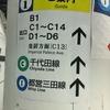 東京駅地下ホームから大手町C1出口へ