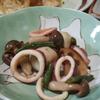 イカ・サトイモ・インゲン・シメジの煮物