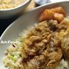ネギ炒飯と豚肉薄切で『排骨飯』