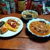 幸運な病のレシピ( 2286 )朝:スパニッシュオムレツ(麻婆豆腐ときゅうりと鳥の炒め)