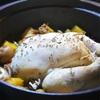 鶏丸の詰め物と野菜の蒸し煮