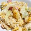 レタス炒飯作りました。シャキッとしたレタスの食感が炒飯とマッチ!