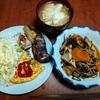 幸運な病のレシピ( 2257 )朝 :スパニッシュオムレツ(ゴーヤ)、味噌汁