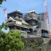 加藤神社から見た熊本城天守閣