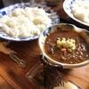 喫茶店「茶豆」のカレーとコーヒー