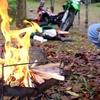 超軽量な折りたたみ式焚き火台ピコグリル398ならワイルドな焚き火が楽しめる!