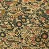 着物生地(243)家屋に流水・花模様織上代紬