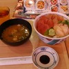 【目利きの銀次】づけまぐろ二種とまぐろたたき丼 ¥720+大盛 ¥50