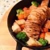 塩豚ハッセルバック蓮根☆ヘルシーで美味〜☆とヘミングウェイからのスキレット料理