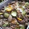 豚肉と二色ズッキーニのマーマレードソテー