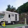 RVパーク「ゆばら湯っ足り広場」に2泊3日、キャンプ 2日目の朝