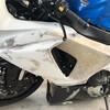バイク整備 FRPカウルの補修 その17