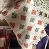 手作り布マスク:お庭のレタス:本棚の猫
