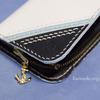 本革手縫い 響&ヴェールヌイ リバーシブル ミニ財布(内部は合皮・ミシン仕上げです)