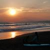 きれいな夕日につられて鵠沼で軽く1ラウンド♪