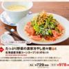 【バーミヤン】たっぷり野菜の濃厚冷やし担々麺