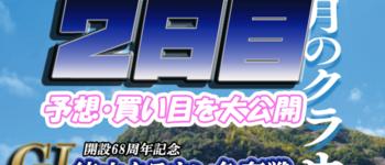 【2日目】徳山クラウン争奪戦開設68周年記念競走【当たる競艇予想】得点率・順位を大公開!