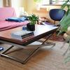 リビングテーブルの最適な高さって?意外と高めが便利。
