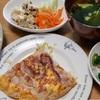 とん平焼き*豚肉の塩麴焼き*小松菜アイス?