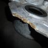 CT50 ケースカバーとキャブの割れ補修