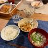 ごはん、鮭のちゃんちゃん焼きときゅうりの胡麻マヨ和え、菜花のネギのお吸い物