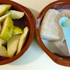 ✴︎鱈と洋梨を、バターとひよこ豆粉と全粒粉の生地で蓋して焼いてみる(試作)