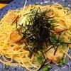ホタテと水菜の和風パスタ