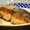 豊洲の「米花」で鰆バター焼き、クリームシチュー。