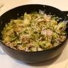 千切りキャベツと豚肉の黒胡椒鍋