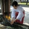 西野神社手水舎は現在、参拝者の安全確保のため感染症対策仕様となっています