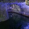 金門島の翟山坑道は透明度の高い水で満たされてた