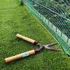 メッシュフェンス下の芝刈方法