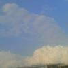 6月5日夕方の積乱雲というか入道雲というか